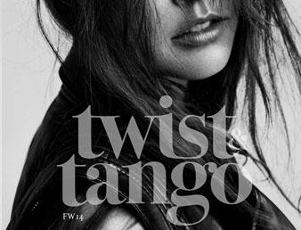 Nærbilde av dame iført vest fra twiast & tango. Bildet blir brukt som knapp til kategorien Twist and Tango i nettbutikken