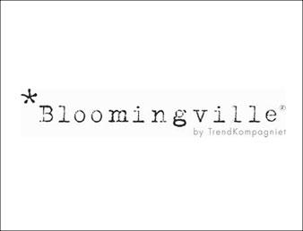 Knapp med logoen til blomingville. Brukt som knapp til kategorien bloomingville i nettbutiikken