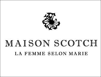 Logo til maison scotch. Brukt som knapp til kategorien Maison Scott i nettbutikken