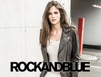 Bilde av modell med jakke fra Rocandblue. Brukes som knapp til kategorien rockandblue i nettbutikken