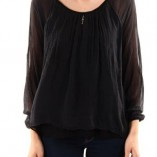Silken-blouse-black-front