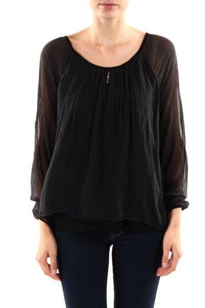 Silken-blouse-black-front
