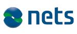 Nets logo. Nets er benyttet som samarbedidspartner for sikker betaling i nettbutikken