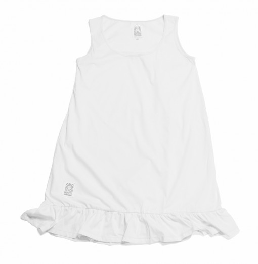 Nightgown-Frill-White